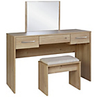 more details on Collection Tilbury Dressing Table, Stool and Mirror - Oak.
