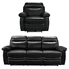 more details on Collection New Paolo Large Power Recliner Sofa/Chair - Black