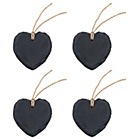 more details on Natural Slate Heart Name Tags - Set of 12.