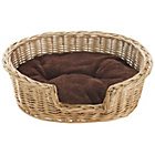 more details on Willow Pet Basket with Cushion - Small.