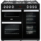 Belling Cookcentre 90DFT Dual Fuel Range Cooker - Black