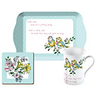 more details on Katie Alice Birdsong Tea Gift Set and 4 Side Plates.