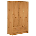 more details on HOME New Malibu 3 Door 4 Drawer Wardrobe - Pine Effect.