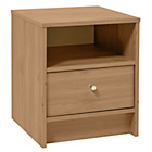 more details on HOME New Malibu 1 Drawer Bedside Chest - Pine Effect.