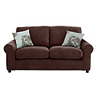 more details on HOME Tessa Compact 3 Seater Fabric Sofa - Chocolate.