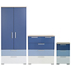 more details on Billie 3 Piece 2 Door Wardrobe Set - Blue.