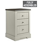 more details on Heart of House Westbury 3 Drawer Bedside Chest - Grey.