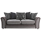 more details on Collection Rhiannon Large Fabric/Leather Effect Sofa -Black.