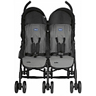 more details on Chicco Echo Twin Pushchair - Coal.
