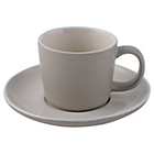 more details on La Cafetiere Taupe Cups and Saucers - Set of 4.