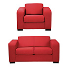 more details on Hygena Ava Compact Fabric Sofa and Chair - Red.