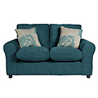 more details on HOME Tessa Compact 2 Seater Fabric Sofa - Teal.