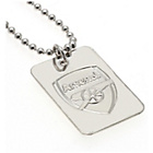 more details on Silver Plated Arsenal Dog Tag & Ball Chain.