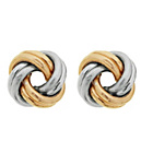 more details on 9ct Gold 2 Colour Knot Studs.