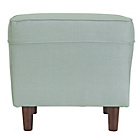 more details on Collection Martha Fabric Footstool - Duck Egg.