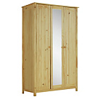 more details on HOME New Scandinavia 3 Door Mirrored Wardrobe - Pine.
