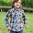 more details on Cherokee Boys Check Brown Stone Shirt.