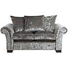 more details on HOME Glitz 2 Seater Fabric Sofa - Silver.