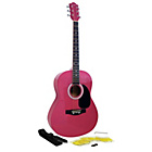 more details on Martin Smith Full Size Acoustic Guitar - Pink.