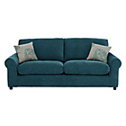 more details on HOME Tessa Large Fabric Sofa - Teal.