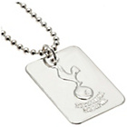 more details on Silver Plated Tottenham Dog Tag & Ball Chain.