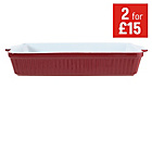 more details on Large Red Rectangular Oven Dish.