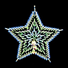 more details on The Christmas Workshop LED Star Silhouette - Blue and White.
