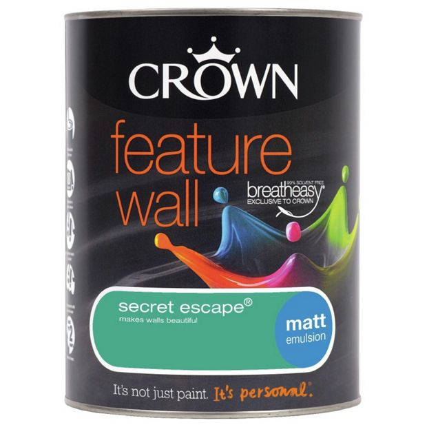 Buy crown feature wall matt paint secret escape at for Wall paint buy online