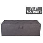 more details on Linoso Extra Large Buttoned Ottoman - Charcoal.