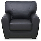more details on HOME Stefano Leather Chair - Black.