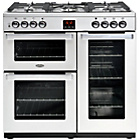 more details on Belling Cookcentre 90DFT Dual Fuel Range Cooker - St Steel.