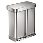 more details on simplehuman 58L Recycler Bin - Stainless Steel.