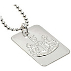 more details on Silver Plated Newcastle United Dog Tag & Ball Chain.