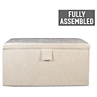 more details on Maurice Large Chenille Ottoman - Cream.