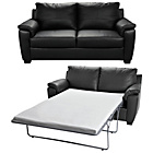 more details on HOME Antonio Leather Sofa Bed and Regular Sofa - Black.