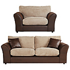 more details on HOME New Bailey Large Sofa and Snuggler Chair - Natural.