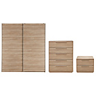 more details on Hygena Bergen 3 Piece Large Wardrobe Package - Oak Effect.