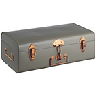 more details on Habitat Small Trunk with Copper Clasps - Grey.