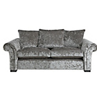 more details on HOME Glitz Large Fabric Sofa - Silver.