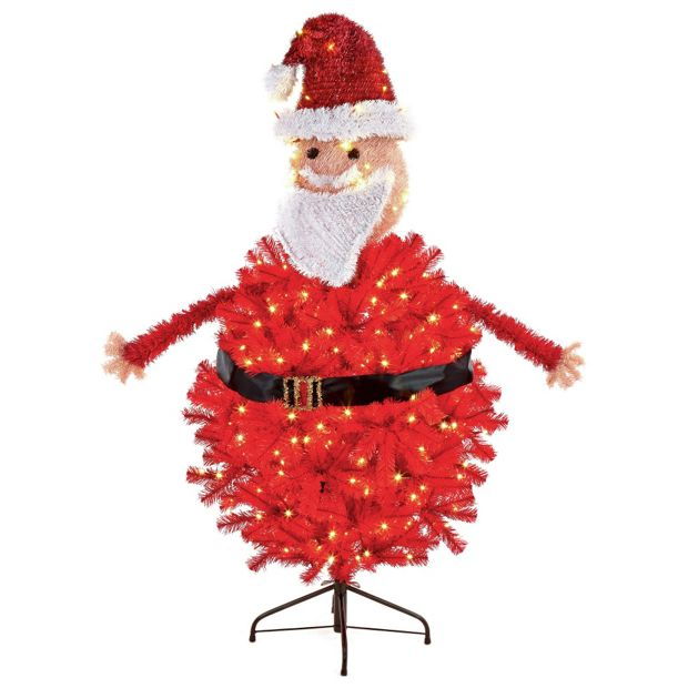 Argos Christmas Light Decorations: Buy Pre-Lit Santa Christmas Tree