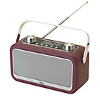 more details on Bush Leather DAB Radio - Aubergine.