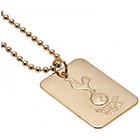more details on Gold Plated Tottenham Dog Tag & Ball Chain.