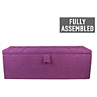 more details on Linoso Extra Large Buttoned Ottoman - Purple.