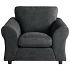 more details on HOME New Clara Fabric Chair - Charcoal.