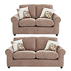 more details on HOME Tessa Large and Regular Fabric Sofa - Mink.