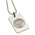 more details on Silver Plated Manchester City Dog Tag & Ball Chain.