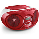 more details on Philips AZ215R/05 Boombox - Red.