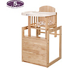 more details on OBaby Combination Wood Highchair - Natural.