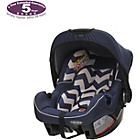 more details on OBaby Zeal ZigZag Car Seat - Navy.