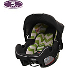 more details on OBaby Zeal ZigZag Car Seat - Lime.